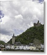 Maus Castle And The Village Of Wellmich Metal Print