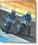 Maverick Y Aleix Full Brake Metal Print