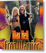 Max Hell Frog Warrior Metal Print by The Scott Shaw Poster Gallery