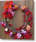 May Day Wreath Metal Print