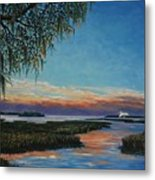 May River Sunset Metal Print by Stanton Allaben
