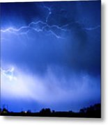 May Showers Two In Color - Lightning Thunderstorm 5-10-2011 Metal Print
