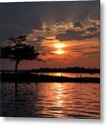 May Sunset At Detroit Point Metal Print