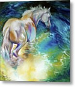 May Waterbaby Equine Metal Print