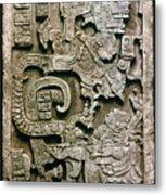 Mayan Glyph Metal Print