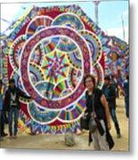 Mayan Patterns Kite Metal Print