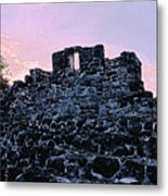 Mayan Ruins In Cozumel Mexico Metal Print