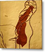 Maybe Baby Two M - Tile Metal Print
