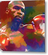 Mayweather Watercolor Metal Print