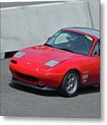 Mazda Miata On Pit Lane Metal Print