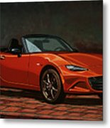 Mazda Mx-5 Miata 2015 Painting Metal Print