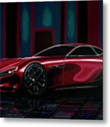Mazda Rx Vision 2015 Painting Metal Print