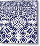 Maze Pattern Metal Print