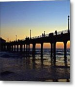 Mb Pier Sunset Metal Print