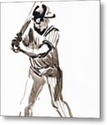 Mbl Batter Up Metal Print