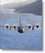 Mc-130h Combat Talon II Over Loch Ness Metal Print