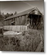 Mccann Covered Bridge  Metal Print by Jason Bennett