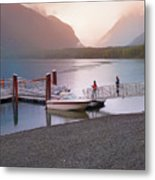 Mcdonald Lake At Dusk Metal Print