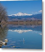 Mcintosh Lake Reflections Metal Print