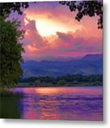Mcintosh Lake Sunset Metal Print