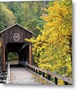 Mckee Bridge In Fall Metal Print