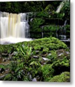 Mclean Falls In Southland New Zealand Metal Print