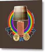 Mconomy Rainbow Brick Lamp Metal Print