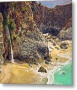 Mcway Falls On The California Coast Metal Print