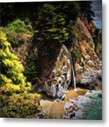Mcway Falls Painting Metal Print