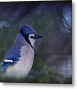 Me Minus You - Blue Metal Print