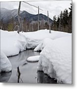 Meadow Brook - White Mountains New Hampshire  Metal Print by Erin Paul Donovan
