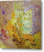 Meadow Flowers Abstract Metal Print