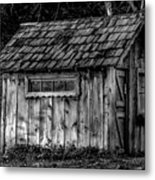 Meadow Shelter - Bw Metal Print