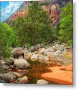 Meandering Oak Creek Canyon Metal Print