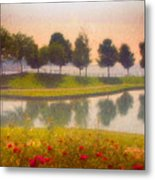 Measured Reflections Metal Print