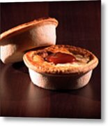 Meat Pies With Sauce And High Contrast Lighting. Metal Print