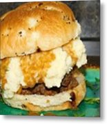 Meatloaf And Mashed Potato Sandwich Metal Print