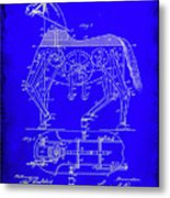Mechanical Horse Patent Art 1b           Metal Print