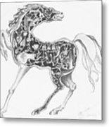 Mechanical Horse Metal Print