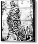 Mechanical Wolf Metal Print