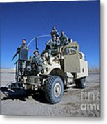 Medical Personnel Pose For A Group Metal Print