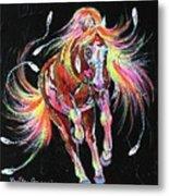 Medicine Fire Pony Metal Print