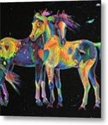 Medicine Ponies Metal Print