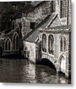 Medieval Architecture Of Bruges Metal Print