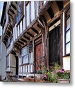 Medieval British Architecture - Dick Turpin's Cottage Thaxted Metal Print
