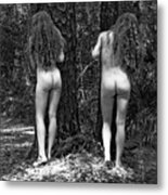 Medieval Forest Twins Metal Print