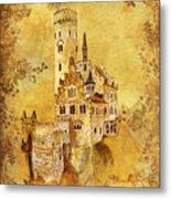 Medieval Golden Castle Metal Print