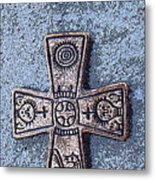 Medieval Nordic Cross Metal Print