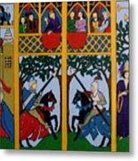 Medieval Scene Metal Print