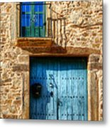 Medieval Spanish Gate And Balcony Metal Print